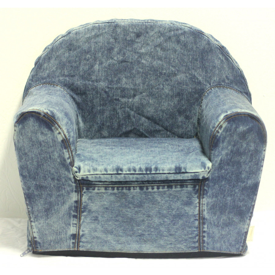 Kinderfauteuil Stonewashed Denim